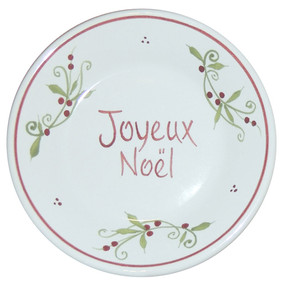 "Small Collector Plate ""Joyeux Noel"" - Decor Spirit of Christmas - IN STOCK"