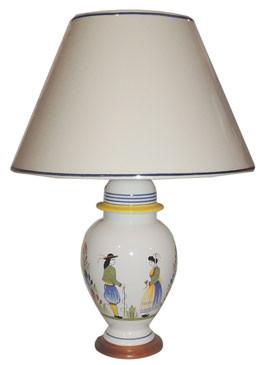 Round Lamp Henriot Quimper