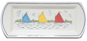Rectangle Platter - Rainbow Fleet Quimper