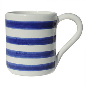 Coffee Mug - Breton Stripes Blue