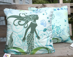 Mermaid Pillow - A Good Catch - IN STOCK