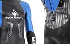 Aqua Drive Panels on Racer Tri Wetsuit
