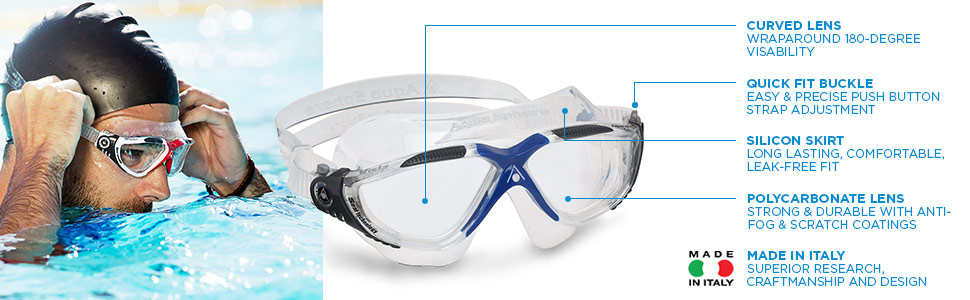 Aqua Sphere Vista Swim Goggles Mask