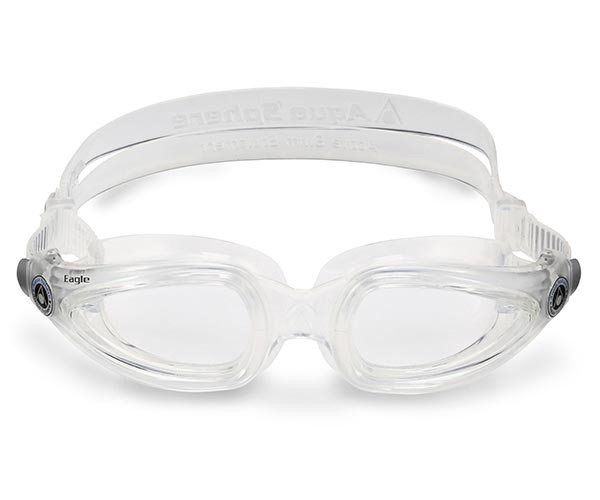 Prescription Goggles with Clear Frame from Aqua Sphere Australia