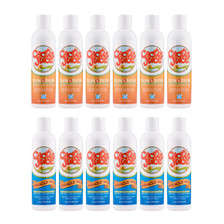 Six 8oz, 20 SPF, sunscreen/repellents Six 8oz Miracle Gels