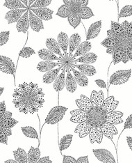 Panache Black Floral Wallpaper