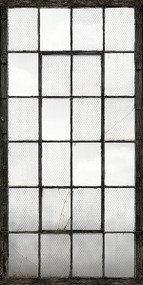 Warehouse Windows Charcoal Industrial Texture Wall Mural