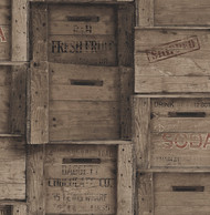 Wood Crates Dark Wood Distressed Wood Wallpaper