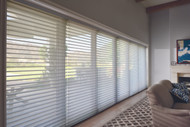 """Vane Size: 3"""" Fabric: Terra Color: Agave Operating System: PowerView® Motorization Mount: Outside Mount Opacity: Translucent"""