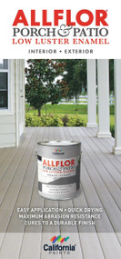 California Paints AllFlor Porch & Patio Paint Color Card