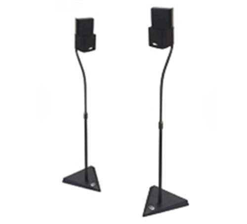 B-Tech BT11 Stealth™ Home Cinema Speaker Stands with   Heavy Duty Die-Cast Base