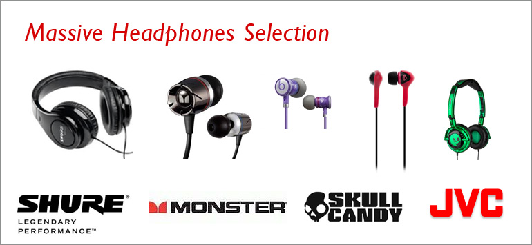 Massive Headphones Selection