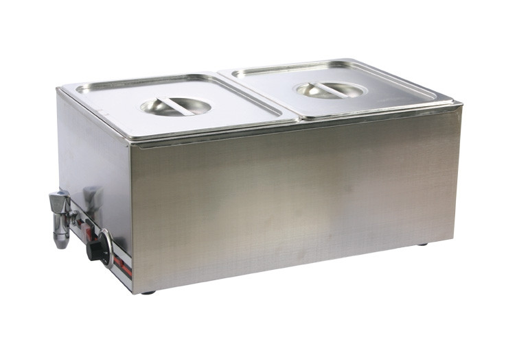 Pro restaurant equipment bain marie double section 2 pans for Equipement resto pro
