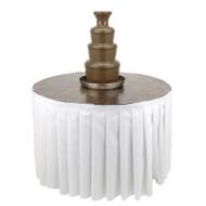Buffet Enhancements Chocolate Fountain Table, Laminate Finish, 48 in Dia, White
