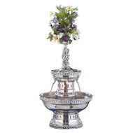 Buffet Enhancements Champagne Fountain, 3 Gal, SS, Silver Rope Trim