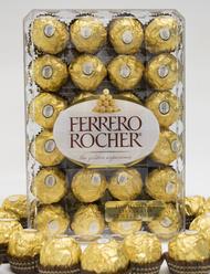 Ferrero Rocher Fine Hazelnut Chocolates Gift Box 48 Count Dual Level