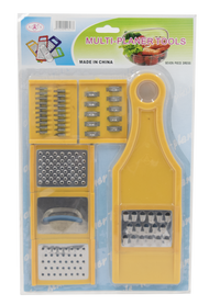 Pro Restaurant Equipment Hand Grater And Slicing Kit For Parmesan Cheese, Ginger, Vegetables