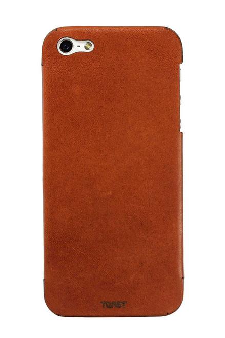 iPhone 4 / 5 / SE Leather Rust back panel