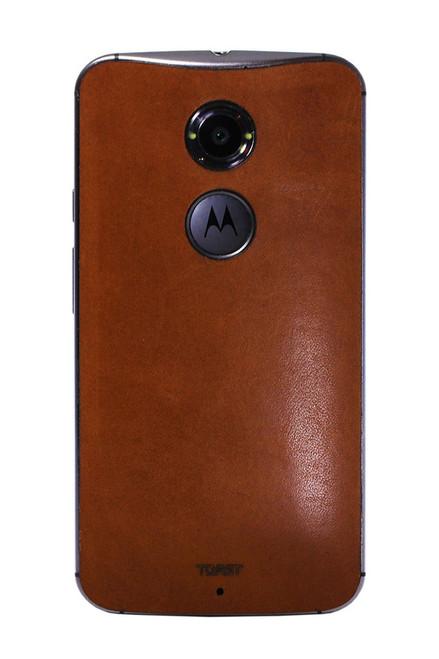 Moto X (2nd Gen) Leather (MOTX2-21) Rust back panel
