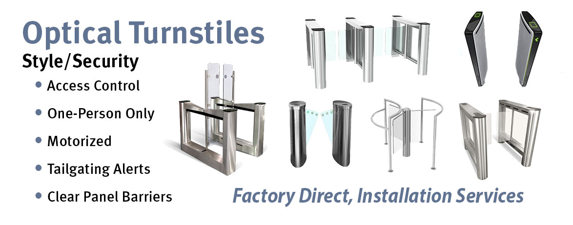 Optical Turnstiles, Automatic Turnstyles, Glass Turnstiles, Lobby Turnstiles