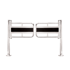 "One-Way Double-Gate, Chrome, 48"" Passageway"