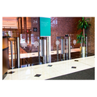 """Mid-Height 46""""  Clear Panel Optical Turnstiles"""