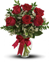** SPECIAL **  Thoughts of You $34.99 Bouquet  6 Red Roses  reg. $44.99 (Available locally only)