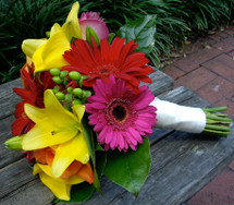 Bright Gerbera & Lilies Bouquet