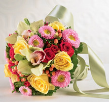 Orchid, Asters, & Roses Bouquet