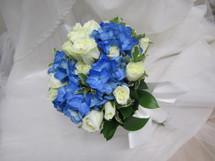 Blue Hydrangea & Roses Bouquet