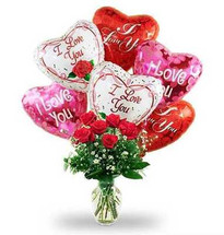 I Love You Bouquet with 6 Red Roses