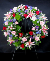 Stargazer & Rose Wreath