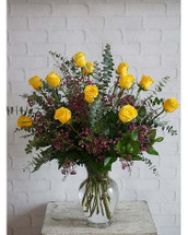 *BEST SELLER* Delux Dozen Yellow Roses