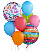 Get Well Soon Balloon Bouquet Delivery