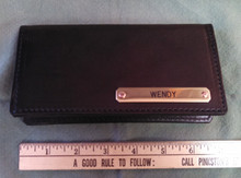 Check Book Cover with Engraved Nameplate