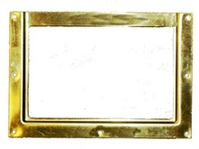 Stall Card Holder Solid Brass