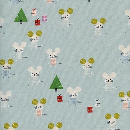 Little Friends Aqua from the Frost collection by Cotton + Steel. 100% unbleached cotton