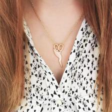 Stork Charm Necklace