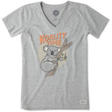 Life Is Good®Womens Koality Time Crusher V-neck Short Sleeve T-shirt
