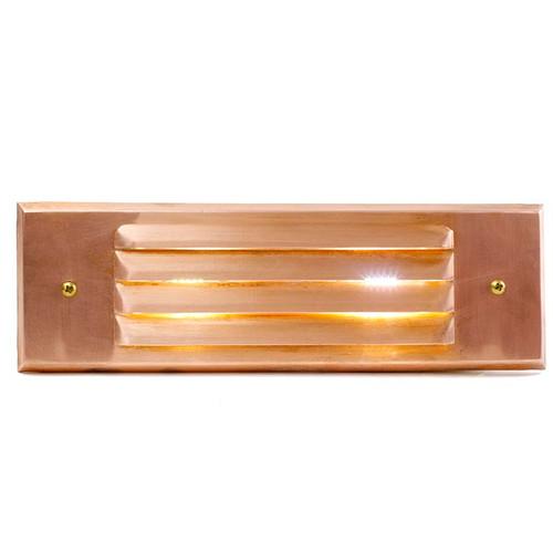 Raw Copper Louver Rectangular Recessed Step Light - PRLC-HL-DV  sc 1 st  Affordable Quality Lighting & Raw Copper Recessed Rectangular Open Face Step Light (PRGC-HL-DV ... azcodes.com