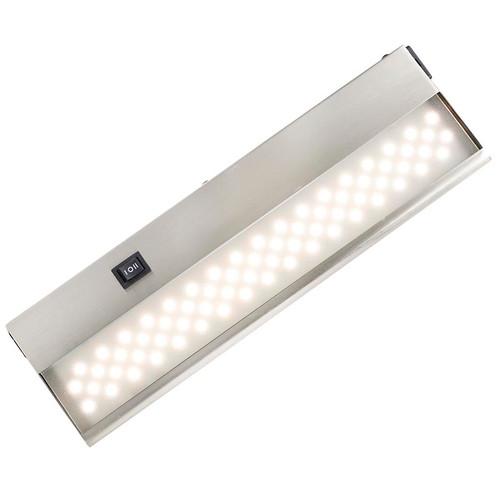 replace under cabinet fluorescent light fixture with led. cuc-hv led under cabinet light bar in brushed nickel replace fluorescent fixture with led