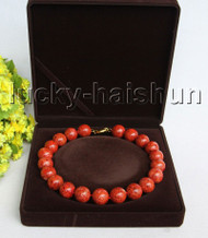 "AAA 18"" 19mm natural round red sponge coral necklace j11302"