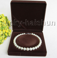 """NATURAL 17"""" 15MM ROUND WHITE SOUTH SEA PEARL NECKLACE 14K GOLD CLASP j11306"""
