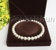 "NATURAL 17"" 16MM ROUND WHITE SOUTH SEA PEARL NECKLACE 14K GOLD CLASP j11307"