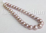 "NATURAL 17"" 17MM ROUND PURPLE SOUTH SEA PEARL NECKLACE 14K GOLD CLASP j11308"