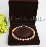 "RARE NATURAL 17"" 15MM ROUND MULTICOLOR SOUTH SEA PEARL NECKLACE 14K CLASP j11310"