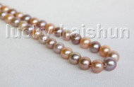 "RARE NATURAL 17"" 16MM ROUND MULTICOLOR SOUTH SEA PEARL NECKLACE 14K CLASP j11311"