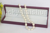 """AAA natural 17"""" BAROQUE 16MM WHITE SOUTH SEA PEARL NECKLACE 14K clasp j11498"""