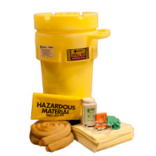 50 Gallon Wheeled Overpack Salvage Drum Spill Kit - Aggressive
