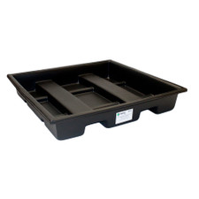 4-Drum Cross-Contain Poly-SpillPallet, Sump Only